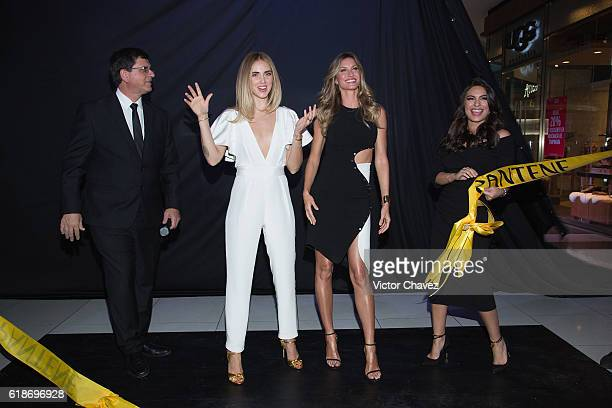 Procter Gamble Mexico Director Marcio Andreazzi Pantene ambassadresses Chiara Ferragni Gisele Bundchen and Ana Brenda Contreras attend the Pantene...