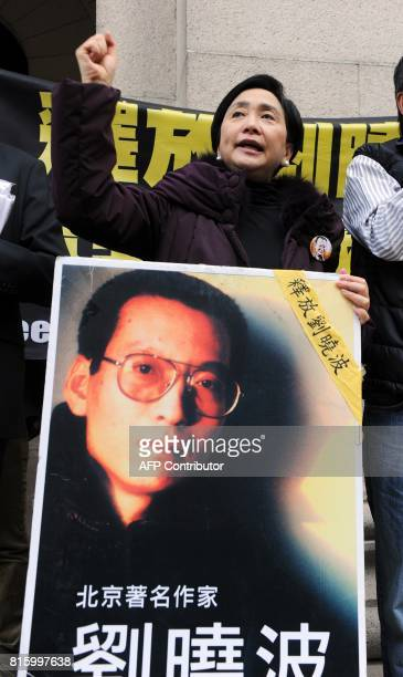 Prodemocracy legislator Emily Lau attends a press conference asking for the release of mainland jailed dissident Liu Xiaobo outside the legislative...