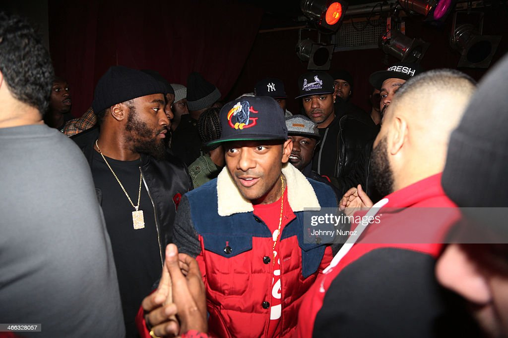 Prodigy (c) and Havoc (rear) aka Mobb Deep attend The Legendary Tunnel Party at B.B. King Blues Club & Grill on January 31, 2014 in New York City.