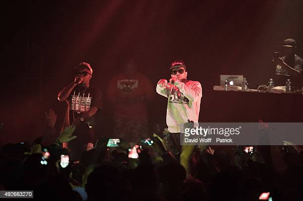 Prodigy and Havoc aka Mobb Deep perform at Le Bataclan on October 14 2015 in Paris France