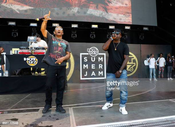 Prodigy and Havoc of Mobb Deep perform during the 2017 Hot 97 Summer Jam at MetLife Stadium on June 11 2017 in East Rutherford New Jersey