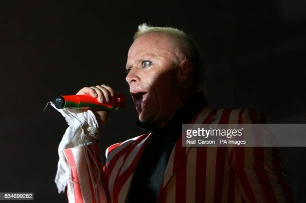 Prodigy lead singer Keith Flint performs during the Oxegen Festival 2008 at the Punchestown Racecourse Naas County Kildare Ireland