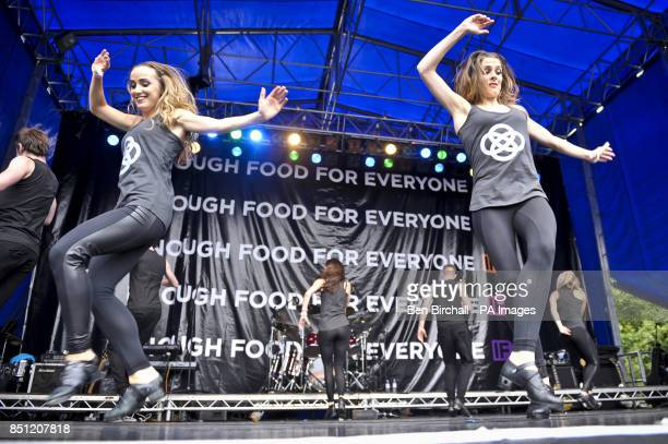 Prodijig perform onstage at Belfast Botanic Gardens where the Big IF Belfast concert is taking place ahead of the G8 Summit in Northern Ireland
