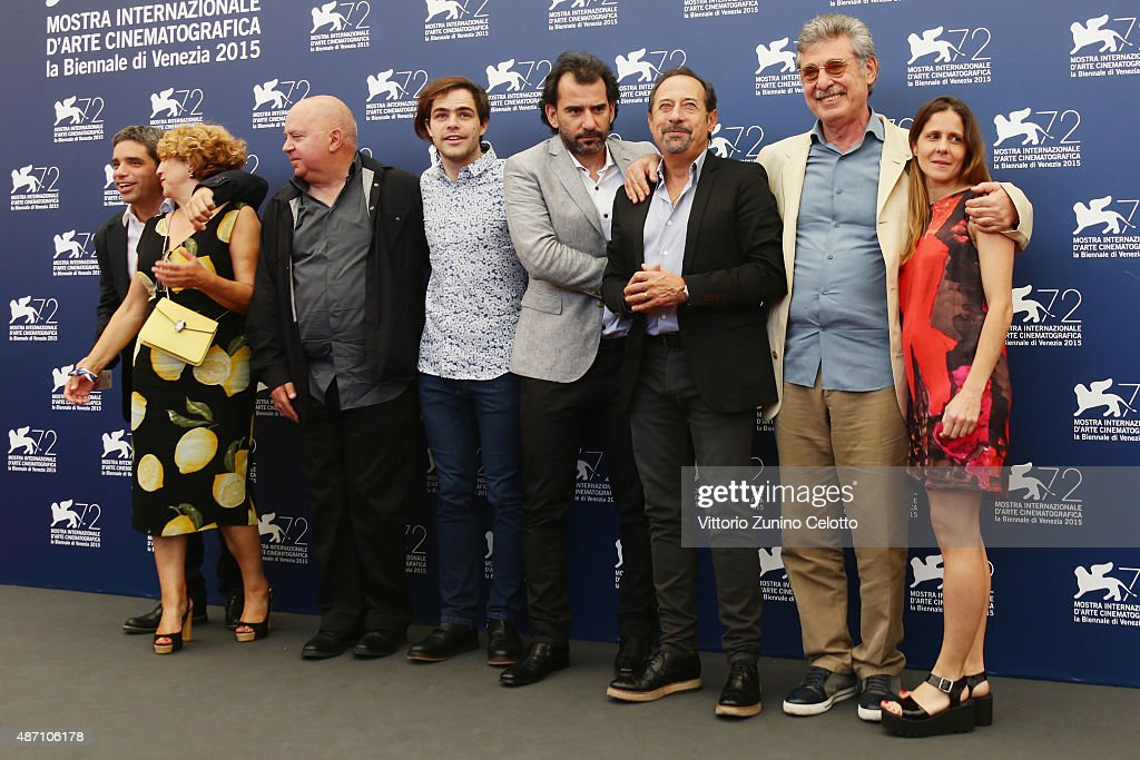 Produ er Agustin Almodovar actor Peter Lanzani director Pablo Trapero actor Guillermo Francella producer Hugo Sigman and guests attend a photocall...