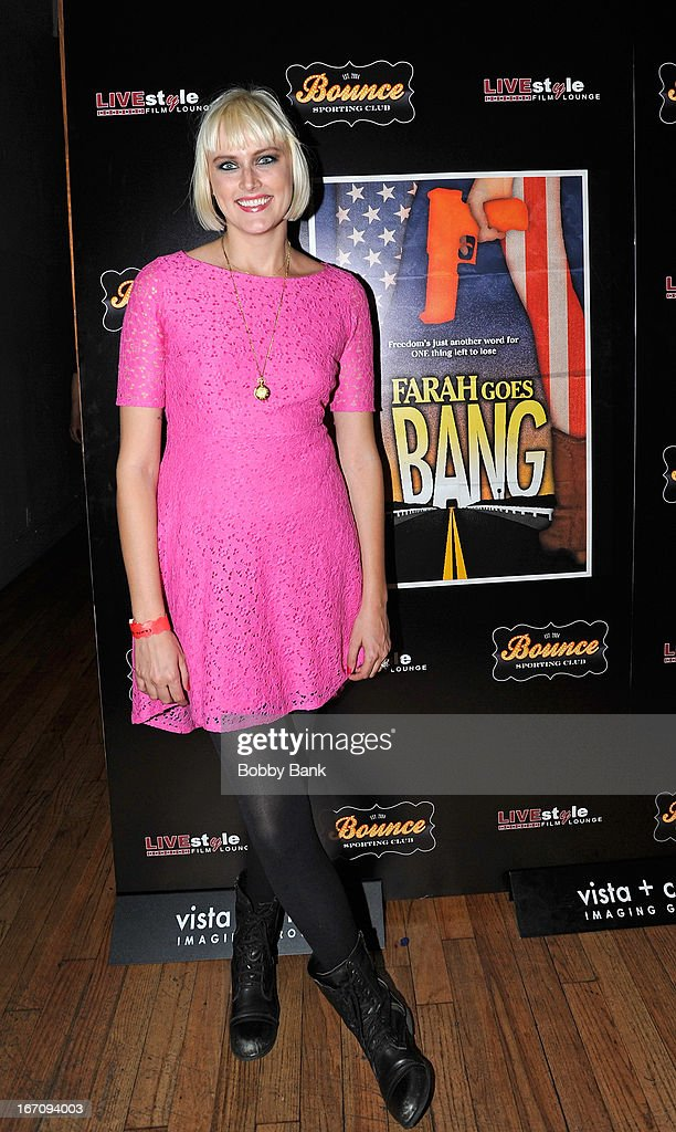 Produceer/writer Laura Goode attends the 'Farah Goes Bang' after party during the 2013 Tribeca Film Festival at Bounce Sporting Club on April 19, 2013 in New York City.