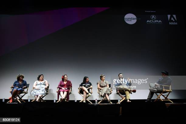 Producer Aaliyah Williams writer Linda Yvette Chavez actor Josefina Lopez Nancy Meza of Defend Boyle Heights actor America Ferrera writer/director...
