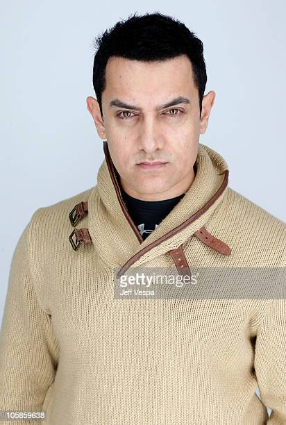 Producer Aamir Khan poses for a portrait during the 2010 Sundance Film Festival held at the WireImage Portrait Studio at The Lift on January 25 2010...