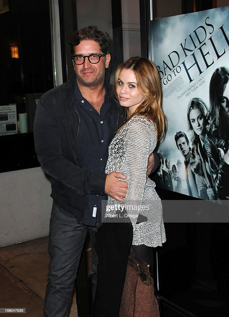 Producer Aaron Kaufman and actress Augie Duke arrive for the Screening Of 'Bad Kids Go To Hell' held at Laemmle Music Hall Theater on December 7, 2012 in Beverly Hills, California.
