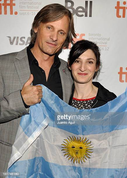 Producer/ Actor Viggo Mortensen and Filmmaker Ana Piterbarg attend the 'Everybody Has A Plan' Premiere during the 2012 Toronto International Film...