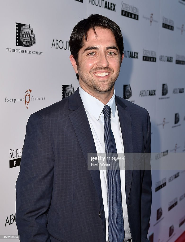 Producer Adam Saunders arrives at the premiere of 'About Alex' at the Arclight Theatre on August 6, 2014 in Los Angeles, California.