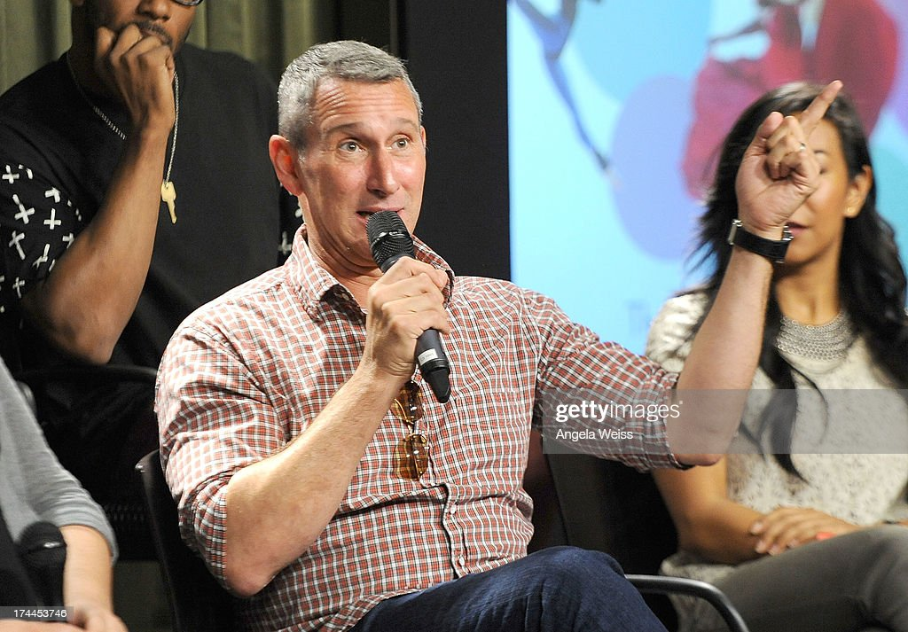 Producer <a gi-track='captionPersonalityLinkClicked' href=/galleries/search?phrase=Adam+Shankman&family=editorial&specificpeople=1295239 ng-click='$event.stopPropagation()'>Adam Shankman</a> attends the Screen Actors Guild Foundation, SAG-AFTRA and Career Transitions for Dancers presents 'Dancers Forum' with Nigel Lythgoe, Cat Deeley, <a gi-track='captionPersonalityLinkClicked' href=/galleries/search?phrase=Adam+Shankman&family=editorial&specificpeople=1295239 ng-click='$event.stopPropagation()'>Adam Shankman</a>, Kym Johnson, tWitch and more at SAG Foundation Actors Center on July 25, 2013 in Los Angeles, California.