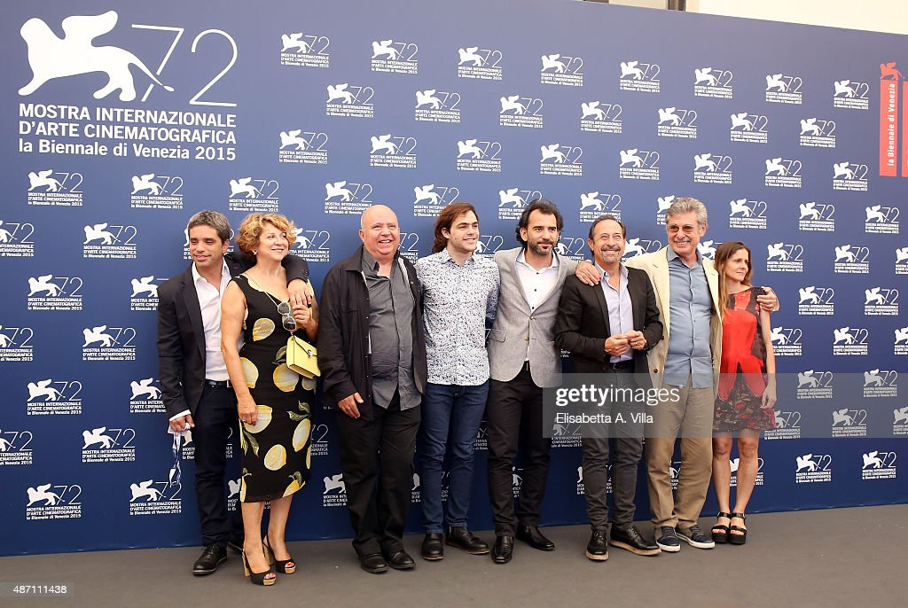 Producer Agustin Almodovar actor Peter Lanzani director Pablo Trapero actor Guillermo Francella producer Hugo Sigman and guests attend a photocall...