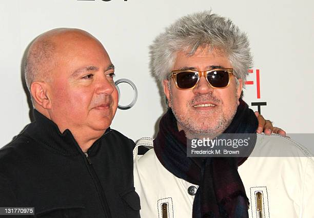 Producer Agustin Almodovar and director Pedro Almodovar attend an evening with Pedro Almodovar and screening of 'Law Of Desire' during AFI FEST 2011...