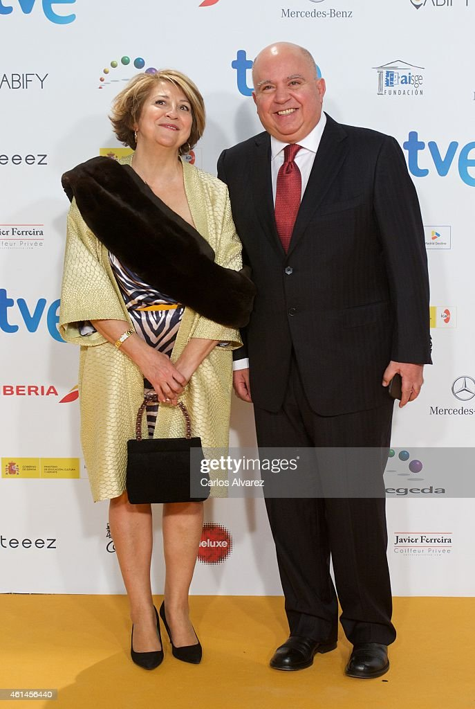 Producer Agustin Almodovar attends the 20th Jose Maria Forque cinema awards at the Palacio Municipal de congresos on January 12 2015 in Madrid Spain