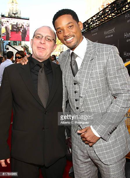 Producer Akiva Goldsman and actor Will Smith arrive to the Premiere of Sony Pictures' 'Hancock' at Grauman's Chinese Theatre on June 30 2008 in...