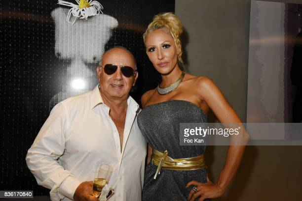 Producer Alain Williams and Adriana Belood attend the Massimo Birthday Party at Hotel de Paris As Part of SaintTropez Party On French Riviera on...