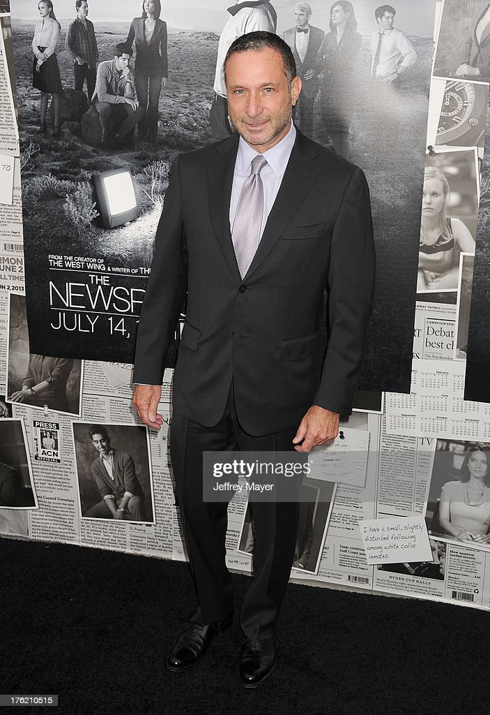 Producer <a gi-track='captionPersonalityLinkClicked' href=/galleries/search?phrase=Alan+Poul&family=editorial&specificpeople=2082627 ng-click='$event.stopPropagation()'>Alan Poul</a> arrives at the Los Angeles Season 2 Premiere Of HBO's Series 'The Newsroom' at Paramount Studios on July 10, 2013 in Hollywood, California.