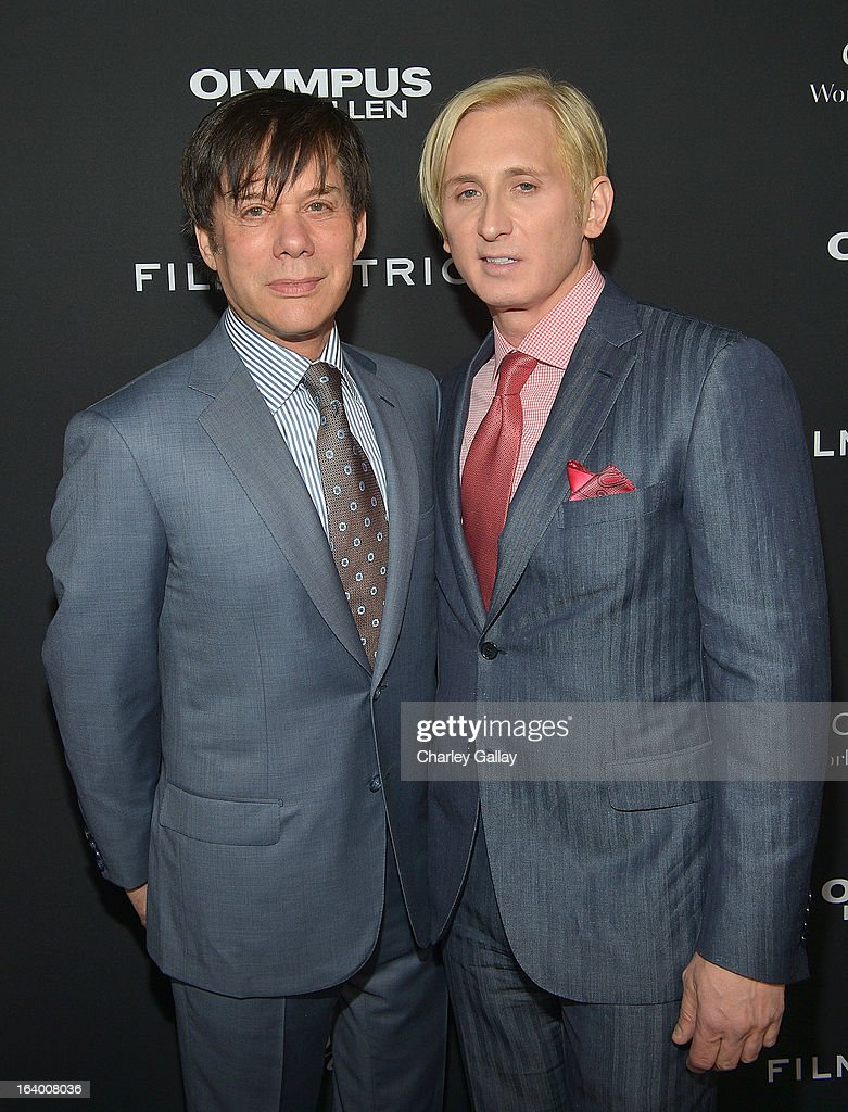 Producer Alan Siegel (L) and designer David Meister attend Brioni Sponsors Film District's World Premiere Of 'Olympus Has Fallen' ArcLight Cinemas on March 18, 2013 in Hollywood, California.