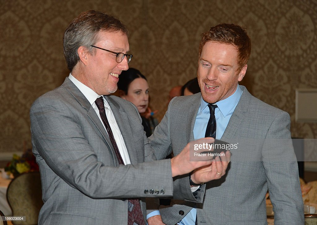Producer Alex Gansa and actor Damian Lewis attend the 13th Annual AFI Awards at Four Seasons Los Angeles at Beverly Hills on January 11, 2013 in Beverly Hills, California.