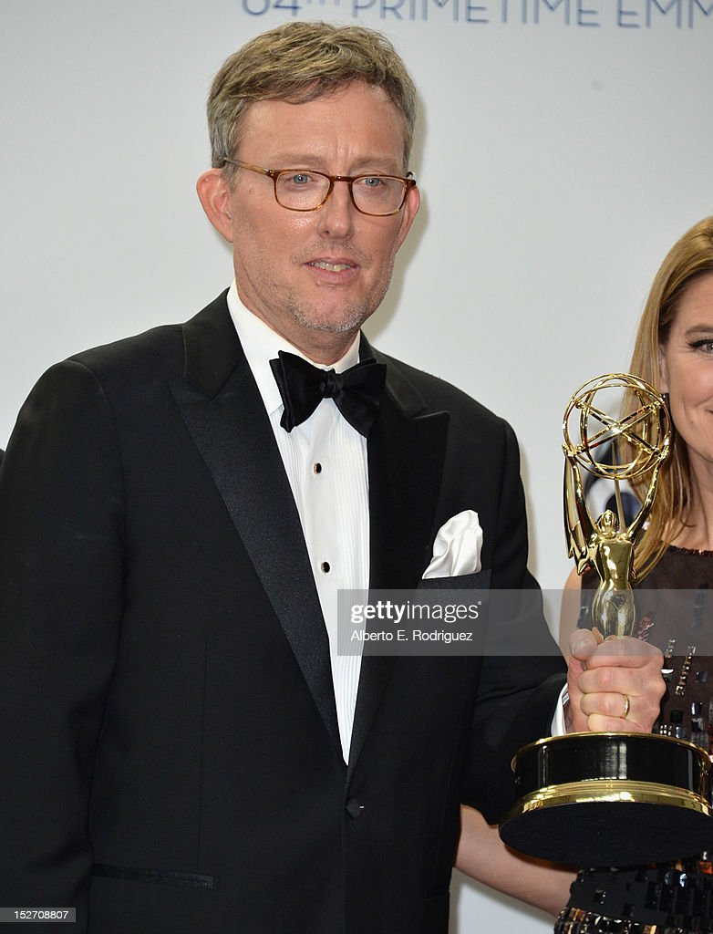 Producer Alex Gansa poses in the 64th Annual Emmy Awards press room at Nokia Theatre L.A. Live on September 23, 2012 in Los Angeles, California.