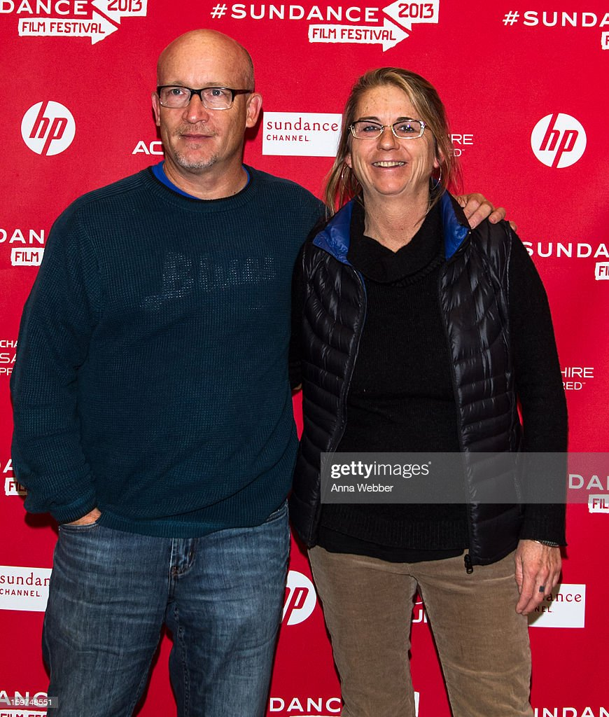 Producer <a gi-track='captionPersonalityLinkClicked' href=/galleries/search?phrase=Alex+Gibney&family=editorial&specificpeople=844225 ng-click='$event.stopPropagation()'>Alex Gibney</a> and Filmmaker Alison Ellwood arrive to the 'History of the Eagles' Premiere - 2013 Park City on January 19, 2013 in Park City, Utah.