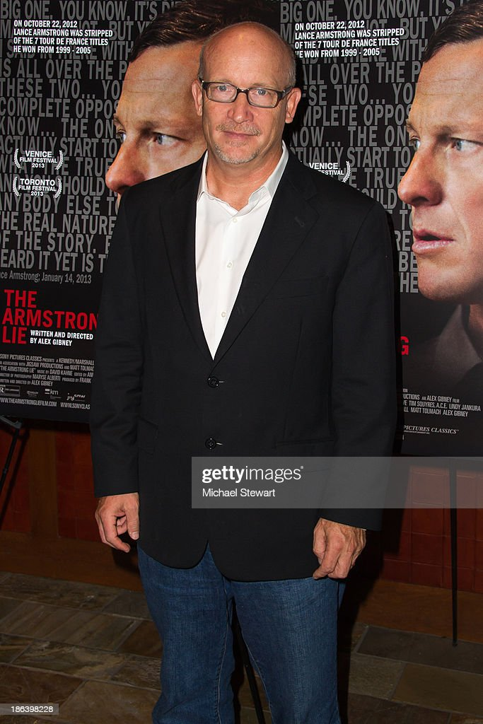Producer <a gi-track='captionPersonalityLinkClicked' href=/galleries/search?phrase=Alex+Gibney&family=editorial&specificpeople=844225 ng-click='$event.stopPropagation()'>Alex Gibney</a> attends 'The Armstrong Lie' New York premiere at Tribeca Grand Hotel on October 30, 2013 in New York City.