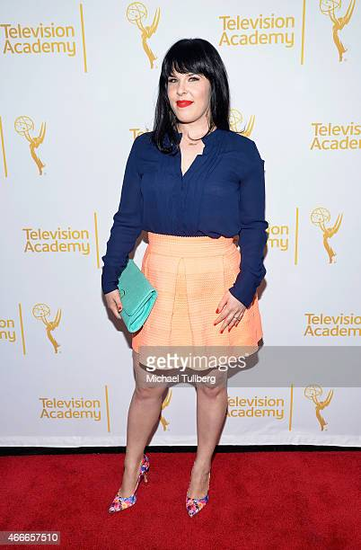 Producer Alexis Martin Woodall attends 'An Evening With The Women Of 'American Horror Story'' presented by the Television Academy at The Montalban on...