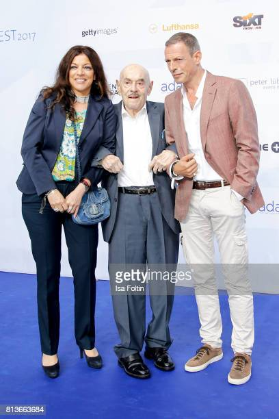 Producer Alice Brauner with her father Artur Brauner and her husband Michael Zechbauer attend the summer party 2017 of the German Producers Alliance...