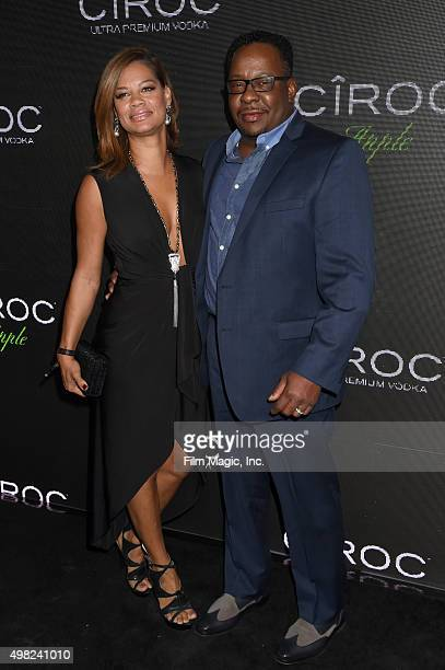 Producer Alicia Etheredge and recording artist Bobby Brown attend Sean 'Diddy' Combs Exclusive Birthday Celebration Presented By CIROC Vodka on...