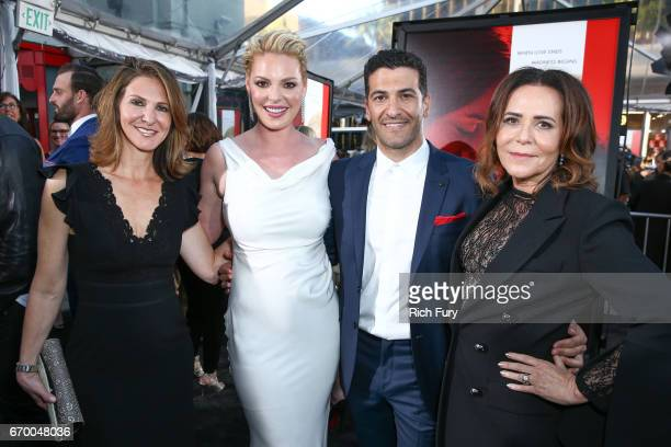 Producer Alison Greenspan actor Katherine Heigl actor Simon Kassianides and director/producer Denise Di Novi attend the premiere of Warner Bros...