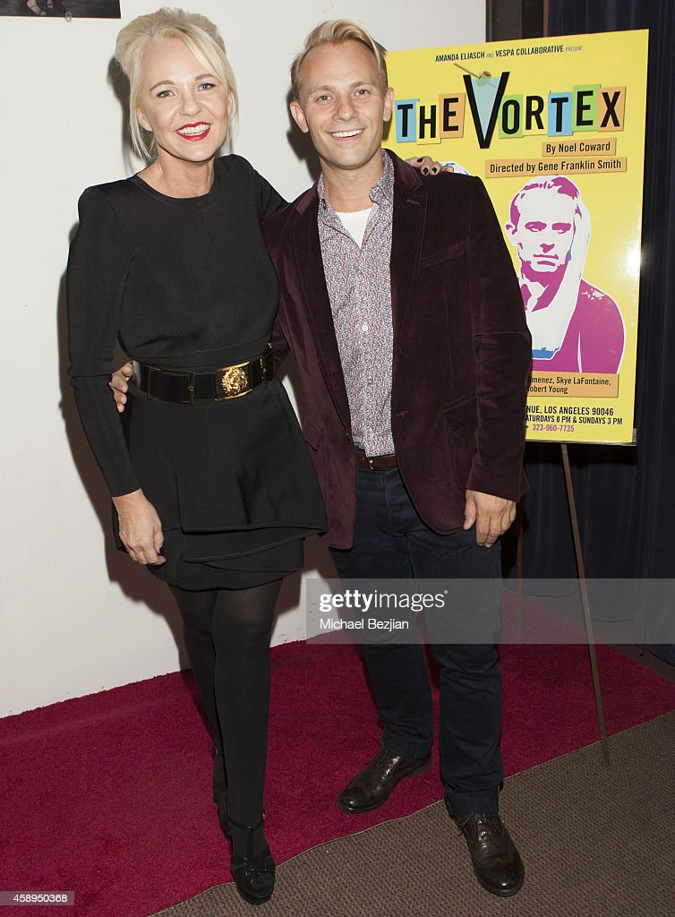 Producer Amanda Eliasch and Actor Craig Robert Young arrive at 'The Vortex' Red Carpet Opening Night at The Matrix Theatre on November 13 2014 in Los...