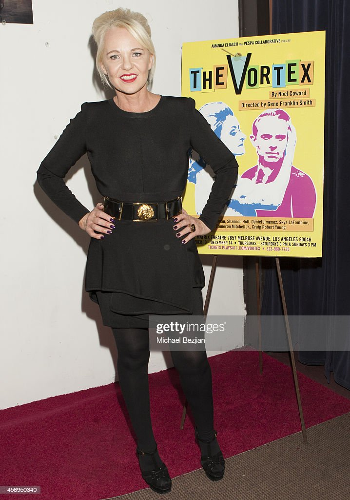 Producer Amanda Eliasch arrives at 'The Vortex' Red Carpet Opening Night at The Matrix Theatre on November 13 2014 in Los Angeles California