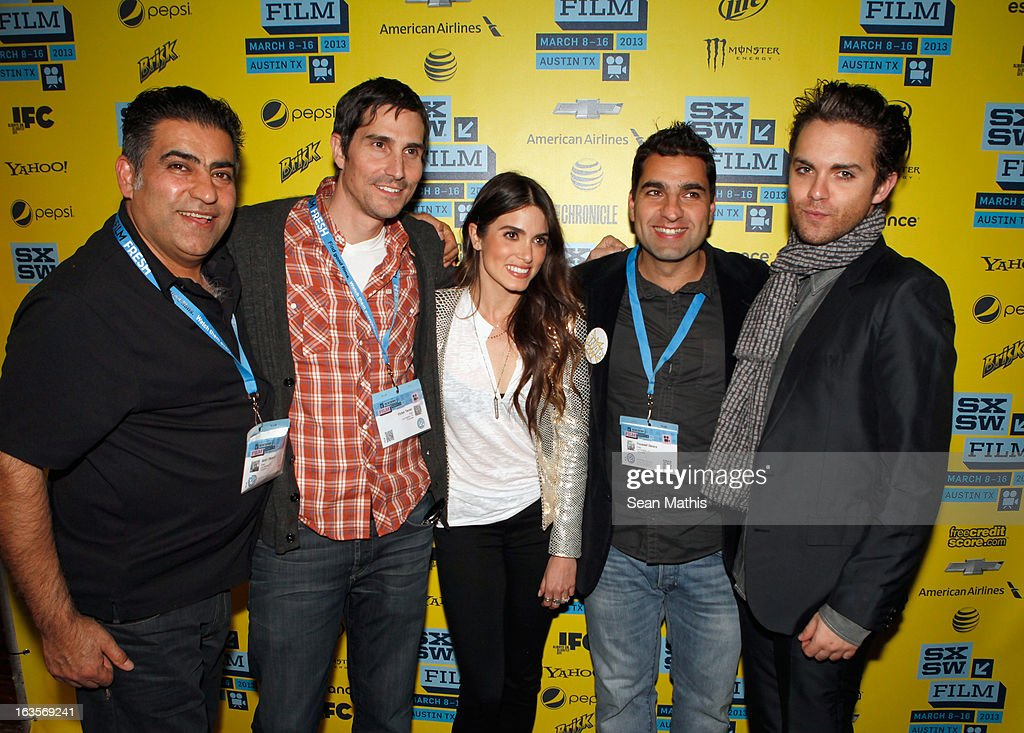 Producer Amir Delara, director Victor Teran, actress <a gi-track='captionPersonalityLinkClicked' href=/galleries/search?phrase=Nikki+Reed&family=editorial&specificpeople=220844 ng-click='$event.stopPropagation()'>Nikki Reed</a>, director Youssef Delara and actor Thomas Dekker pose in the greenroom at the screening of 'Snap' during the 2013 SXSW Music, Film + Interactive Festival at Alamo Ritz on March 11, 2013 in Austin, Texas.