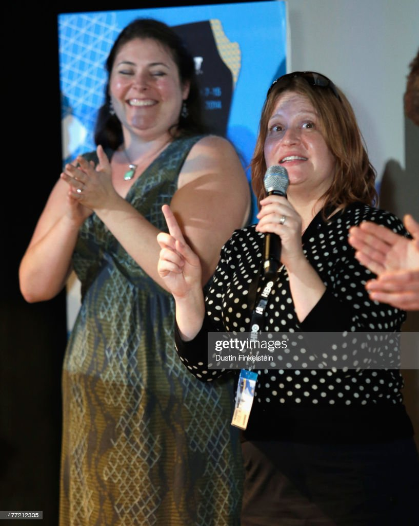 Producer Amy Lowe Starbin and director Jen McGowan speak onstage at the 'Kelly & Cal' Photo Op and Q&A during the 2014 SXSW Music, Film + Interactive Festival at Rollins Theatre at The Long Center on March 7, 2014 in Austin, Texas.