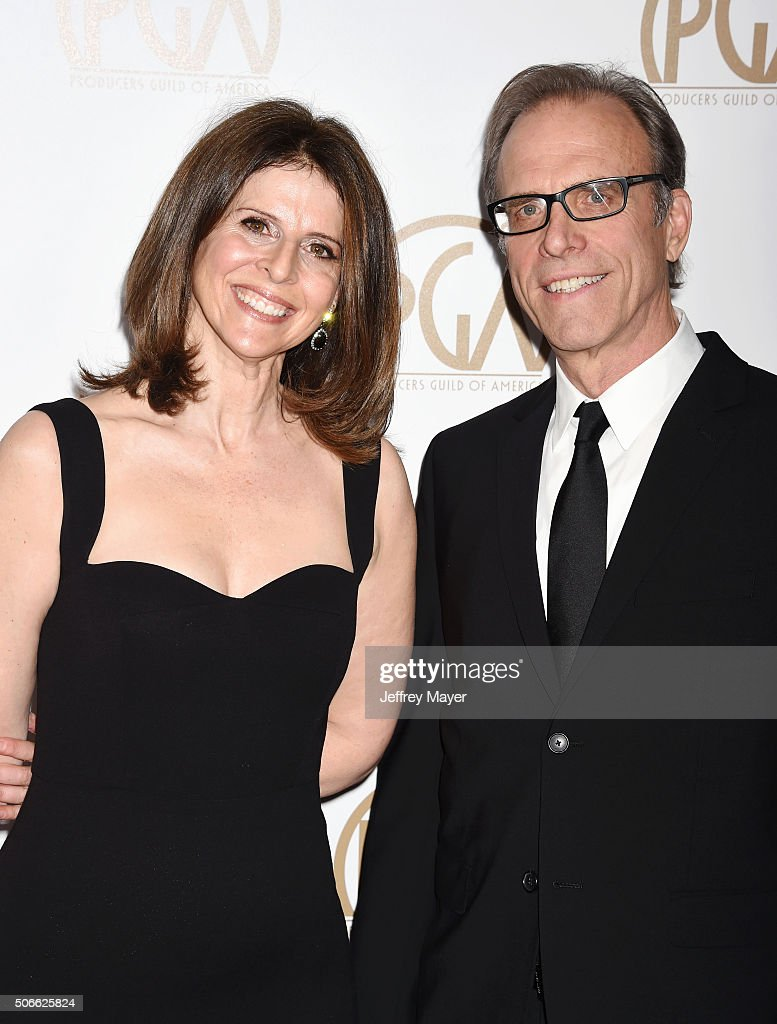 Producer Amy Ziering and director Kirby Dick arrive at the 27th Annual Producers Guild Awards at the Hyatt Regency Century Plaza on January 23 2016...
