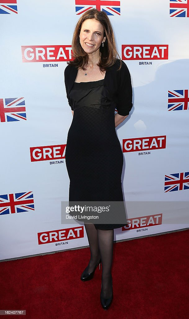 Producer Amy Ziering attends the GREAT British Film Reception at the British Consul General's Residence on February 22 2013 in Los Angeles California