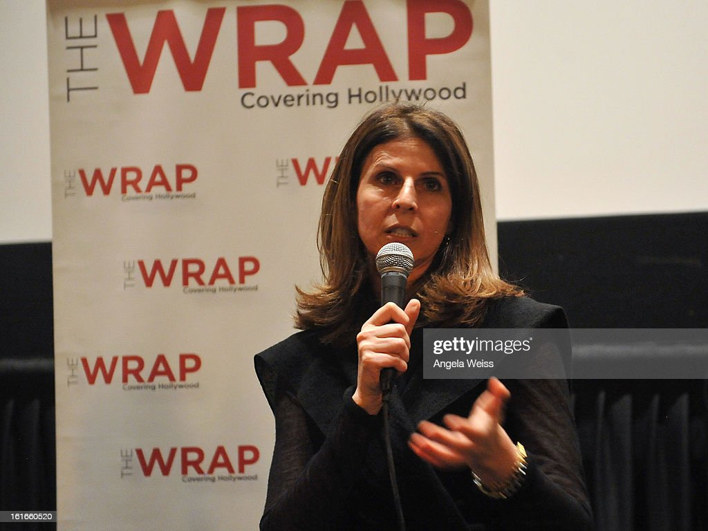 Producer Amy Ziering participates in a Q&A session following TheWrap's screening of 'The Invisible War' at Sunset Sundance Cinemas on February 13, 2013 in Los Angeles, California.