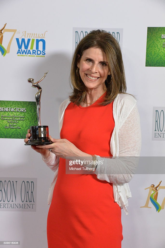 Producer Amy Ziering winner of the Documentary Film award for 'The Hunting Ground' poses in the press room at the 17th Annual Women's Image Awards at...