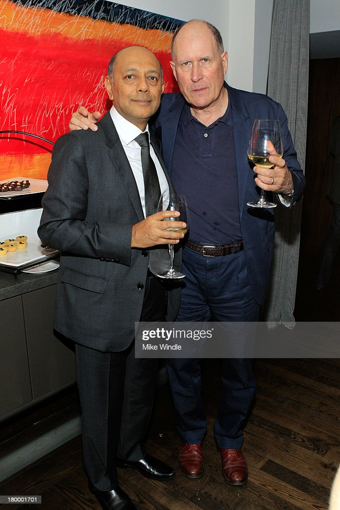 Producer Anant Singh and writer William Nicholson attend the Burberry supported premiere and celebration of 'Mandela: Long Walk to Freedom' hosted by The Weinstein Company and Entertainment One at the Toronto International Film Festival on September 7, 2013 in Toronto, Canada.