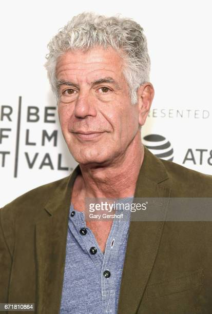 Producer and film subject Anthony Bourdain attends 'WASTED The Story of Food Waste' screening during the 2017 Tribeca Film Festival at BMCC Tribeca...