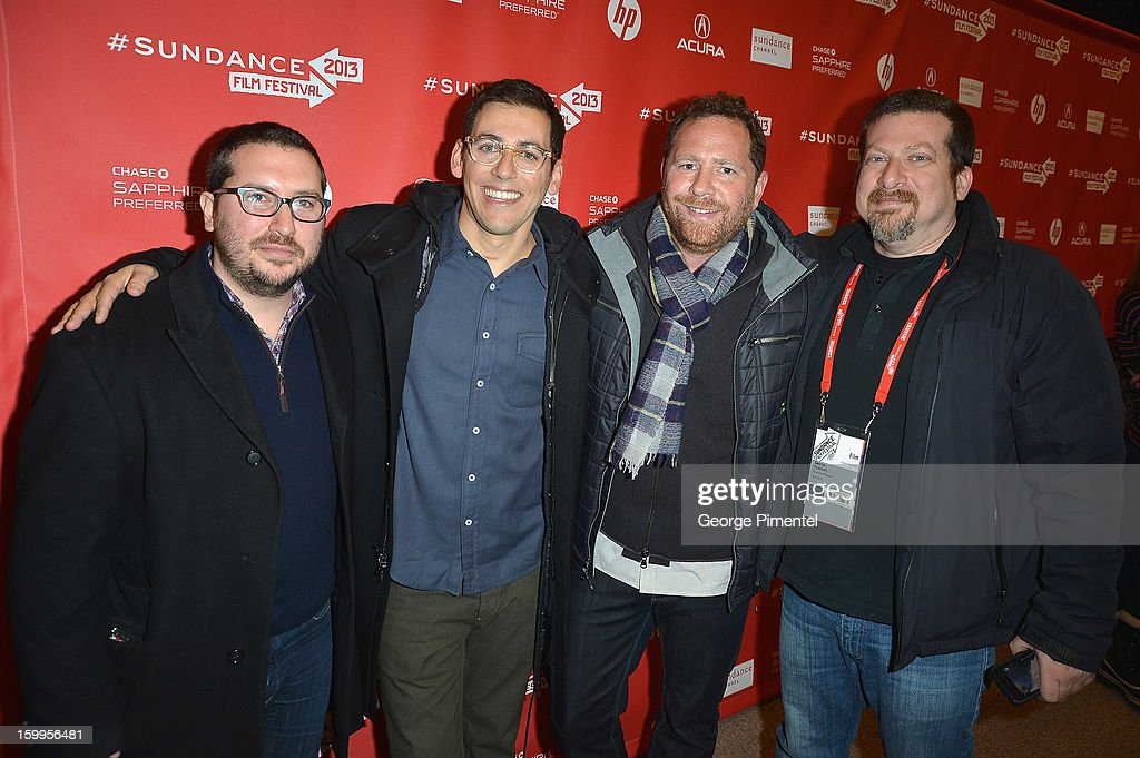 Producer and Financier Teddy Schwarzman, Director Stu Zicherman, Co-writer and producer Ben Karlin and Executive Producer George Paaswell attends the 'A.C.O.D' Premiere during the 2013 Sundance Film Festival at Eccles Center Theatre on January 23, 2013 in Park City, Utah.