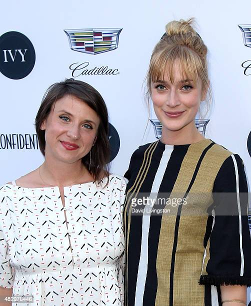 Producer and founder/CEO of crowdfunding platform SeedSpark Emily Best and actress Caitlin Fitzgerald attend the 2nd Annual Ivy Innovator Film Awards...