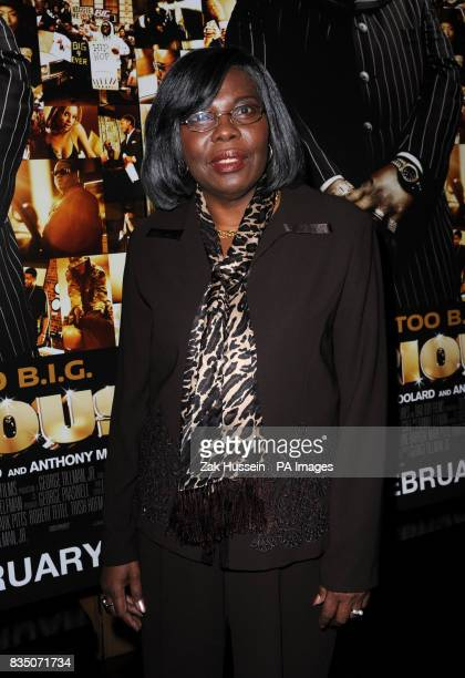 Producer and mother of Biggie Smalls Valetta Wallace attends a drinks reception ahead of the VIP screening of Notorious at the Soho Hotel in central...