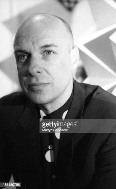 Producer and musician Brian Eno portrait London United Kingdom 1996