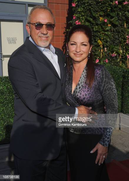 Producer and musician Emilio Estefan and musician Gloria Estefan attend the 2010 US Open Opening Night Ceremony at the USTA Billie Jean King National...
