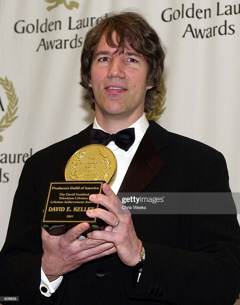 Producer and writer David E Kelley recipient of the 'David Susskind Lifetime Achievement Award in Television' poses for photographers at the...