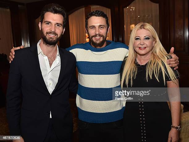 Producer Andrea Iervolino actor James Franco and producer Monika Bacardi attend Andrea Monika Host A Private Party With The Cast Of 'In Dubious...