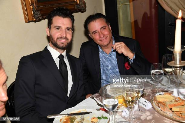 Producer Andrea Iervolino and Actor Andy Garcia attends AMBI GALA In Honour Of Andy Garcia And Bobby Moresco on March 23 2017 in Rome Italy