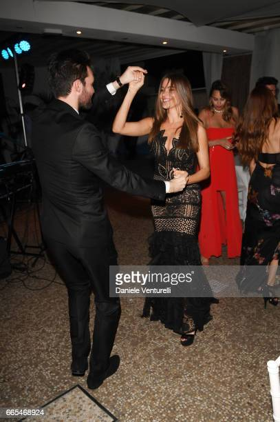 Producer Andrea Iervolino and actor Sofia Vergara attends AMBI GALA In Honour Of at Hotel Exedra on April 6 2017 in Rome Italy