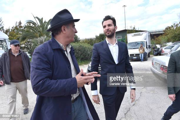 Producer Andrea Iervolino and Andy Garcia attend On Set Of BENT By AMBI Media Groupon March 23 2017 in Rome Italy